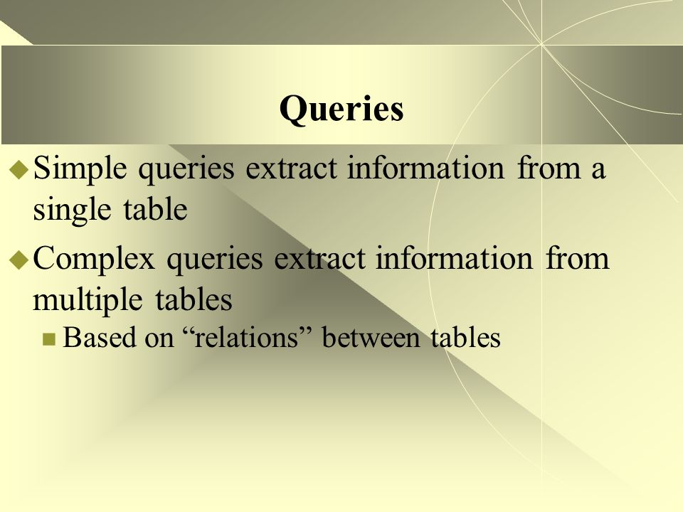 Development Standards - Queries  Two purposes for queries Display information to end-users The name of the query must informative (since the end user will select the query from a list) and the displayed column names should be grammatically correct (use captions) Process data or prepare data for a report Typically, these queries should have a special prefix to separate them from other queries.