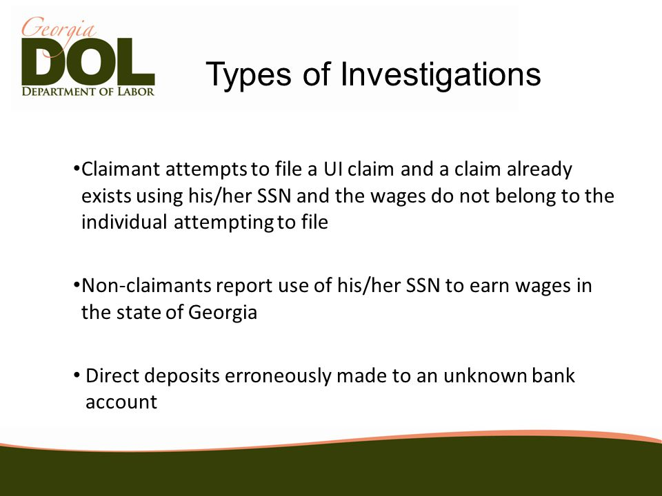 Integrity Investigation Investigator requests that the complainant submit a written and signed statement detailing the complaint Statement must include the full name, date of birth, social security number, mailing address and telephone number.