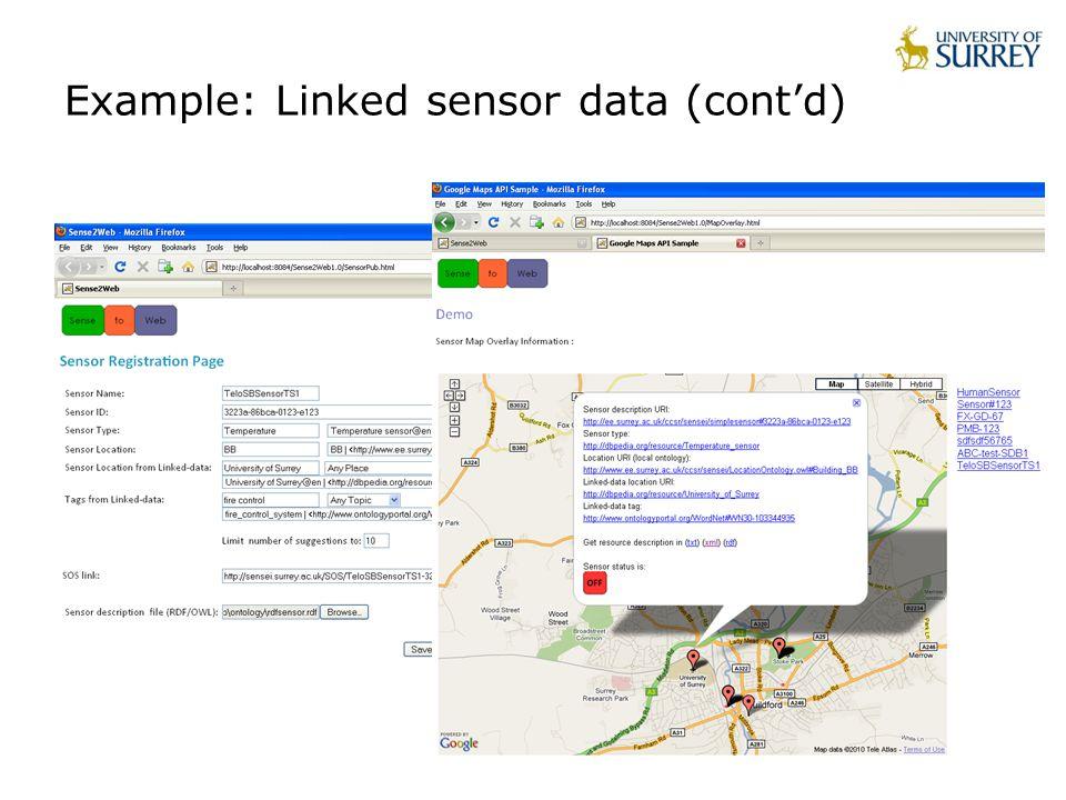 Example: Linked sensor data (cont'd)
