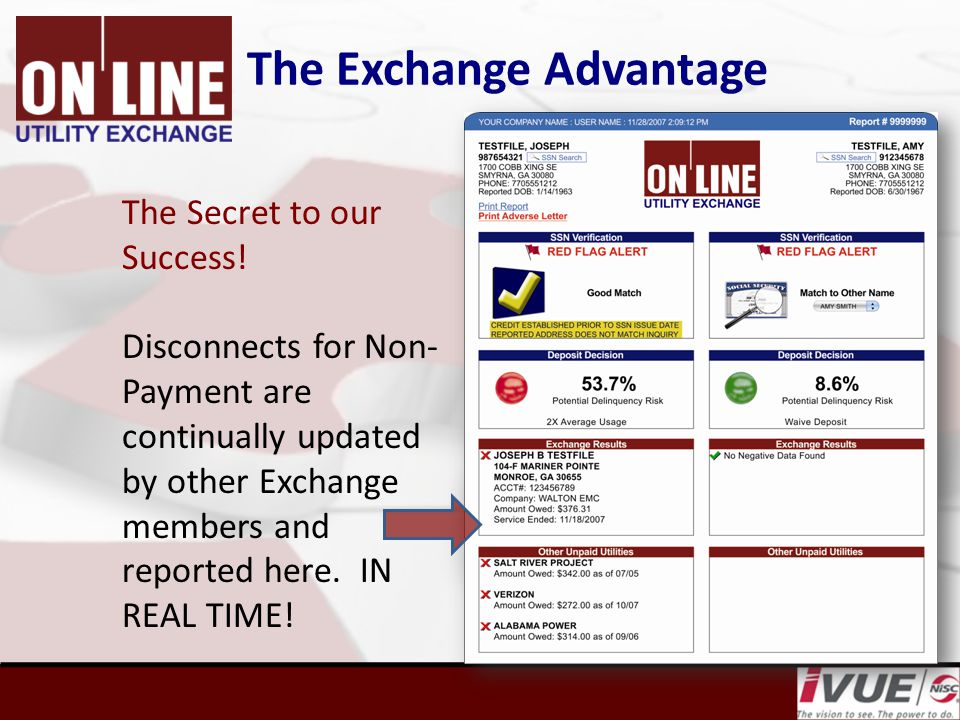 The Exchange Advantage The Secret to our Success.