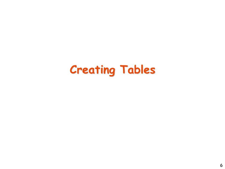 47 Translating Weak Entity Sets create table award( name varchar2(40), year integer, money number(6,2), o_name varchar2(40), primary key(name, year, o_name), foreign key (o_name) references Organization(name) on delete cascade ) Award Organization Gives year name phone number money