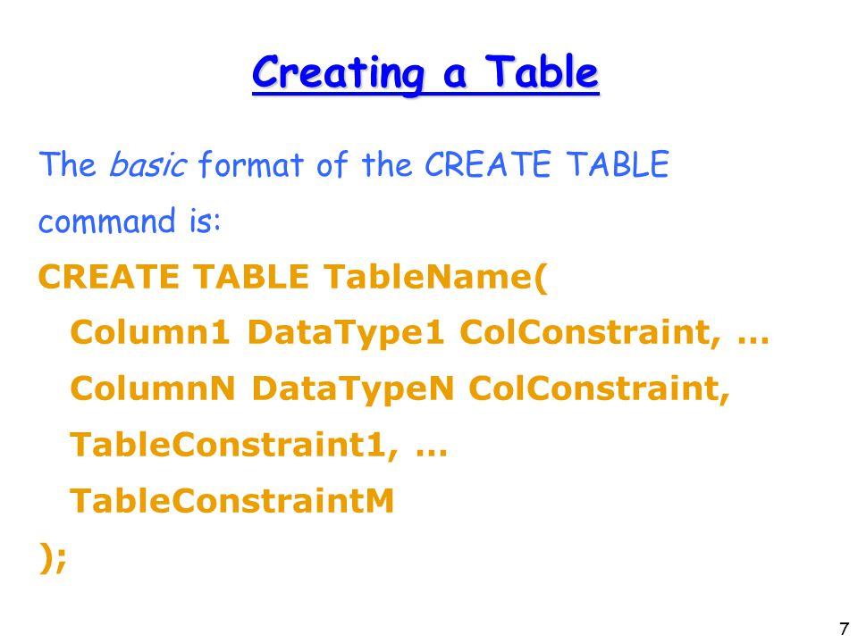 48 Translating ISA: Option 1 create table MoviePerson(...