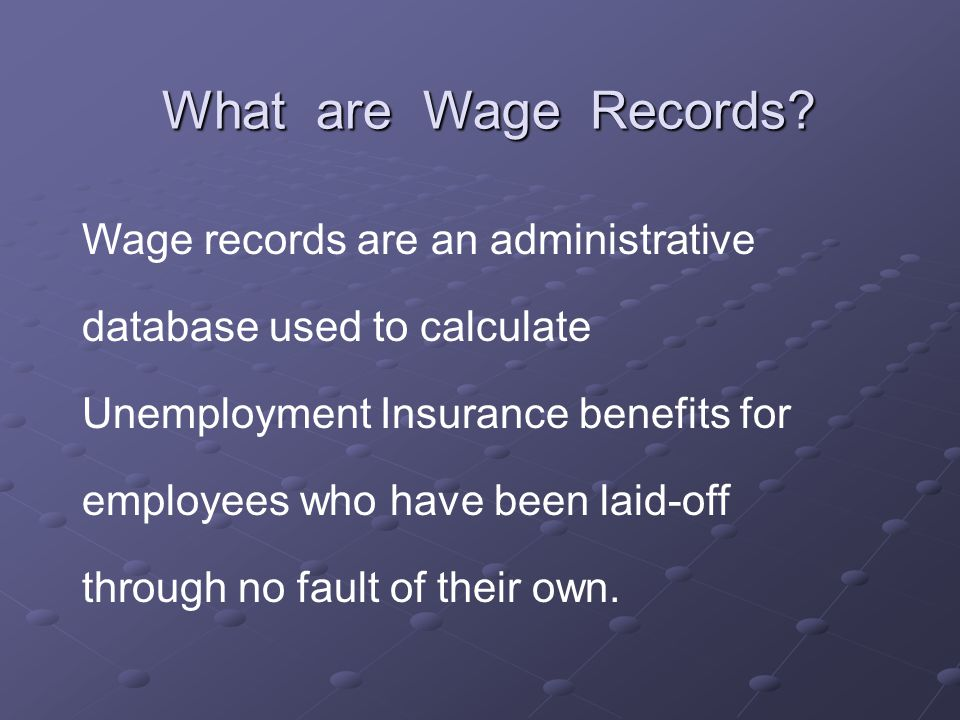 What are Wage Records.