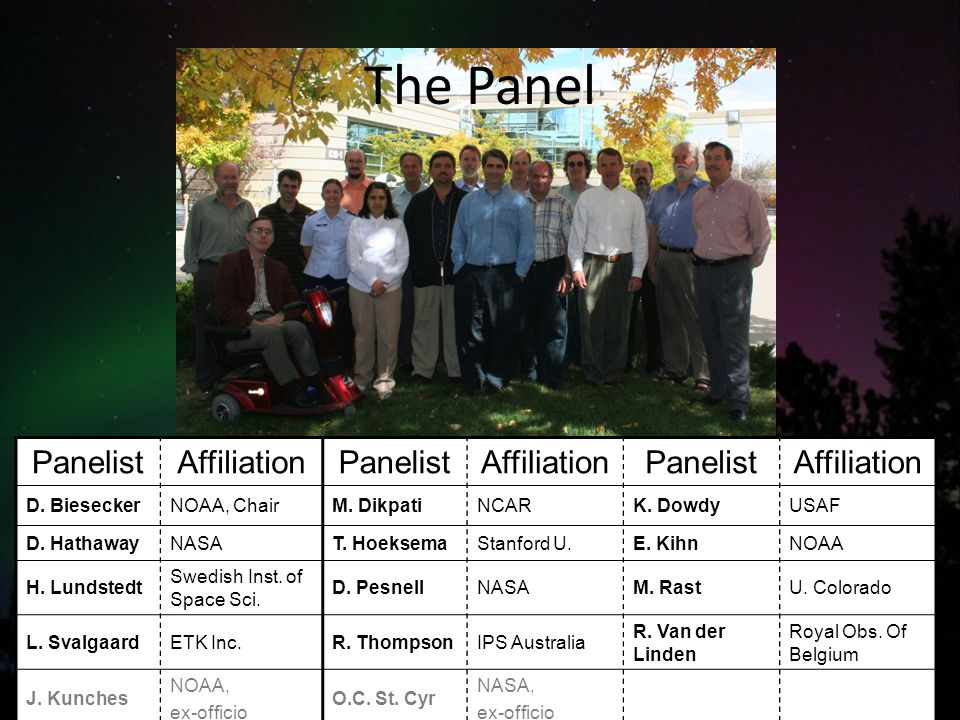 The Panel PanelistAffiliationPanelistAffiliationPanelistAffiliation D.