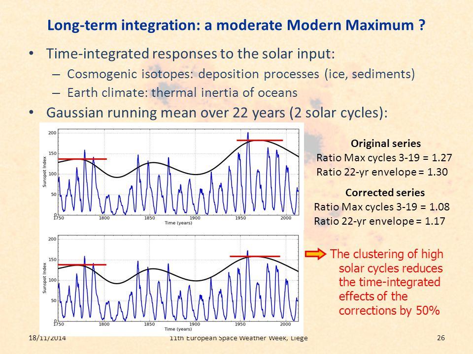 Long-term integration: a moderate Modern Maximum .