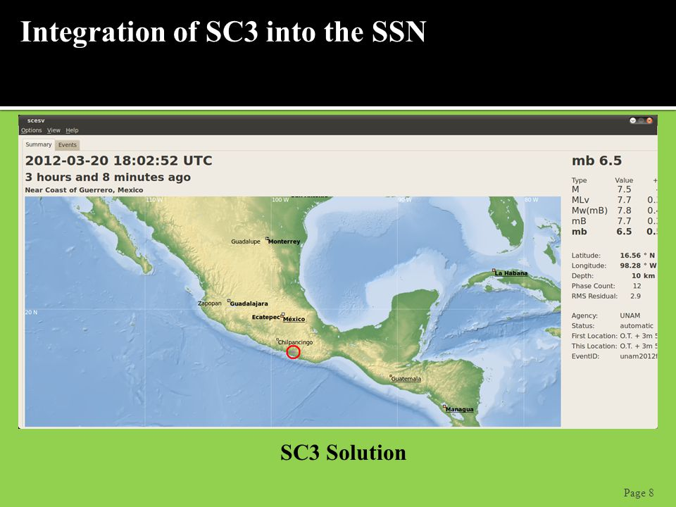 Page 8 Integration of SC3 into the SSN SC3 Solution