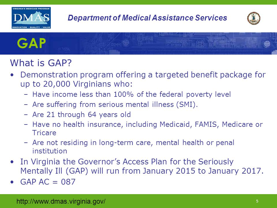 http://www.dmas.virginia.gov/ 45 Department of Medical Assistance Services F.N.U. (continued)