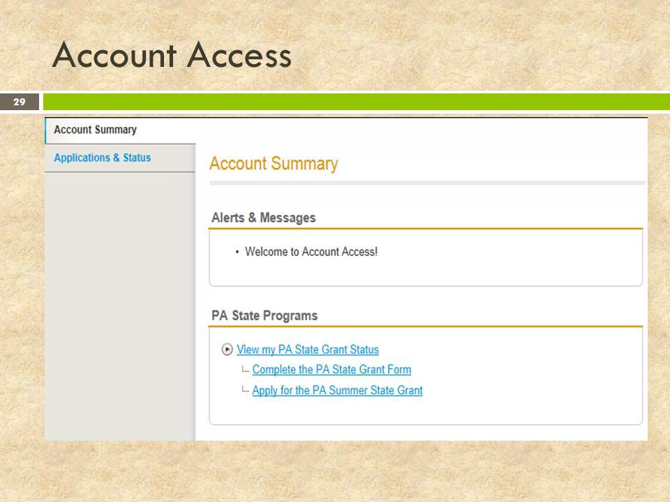 Account Access 29