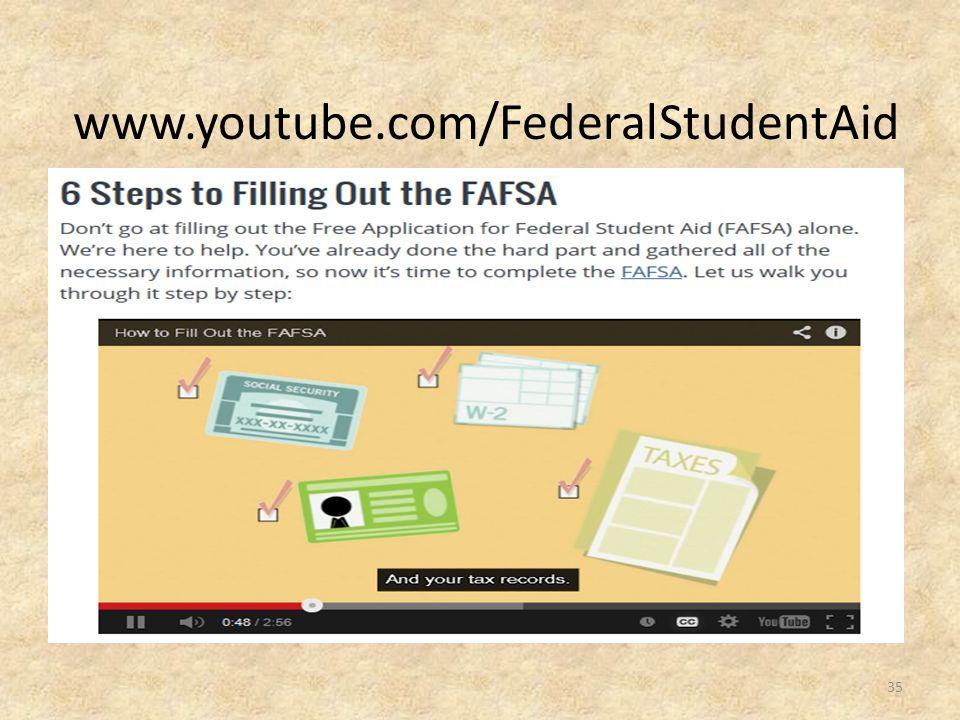www.youtube.com/FederalStudentAid 35