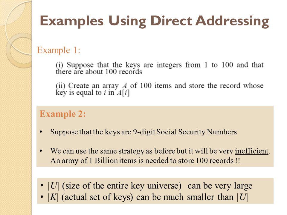 28 Double Hashing: Example h 1 (k) = k mod 13 h 2 (k) = 1+ (k mod 11) h(k,i) = (h 1 (k) + i h 2 (k) ) mod 13 Insert key=14: h 1 (14,0) = 14 mod 13 = 1 h(14,1) = (h 1 (14) + h 2 (14)) mod 13 = (1 + 4) mod 13 = 5 h(14,2) = (h 1 (14) + 2 h 2 (14)) mod 13 = (1 + 8) mod 13 = 9 79 69 98 72 50 0 9 4 2 3 1 5 6 7 8 10 11 12 14