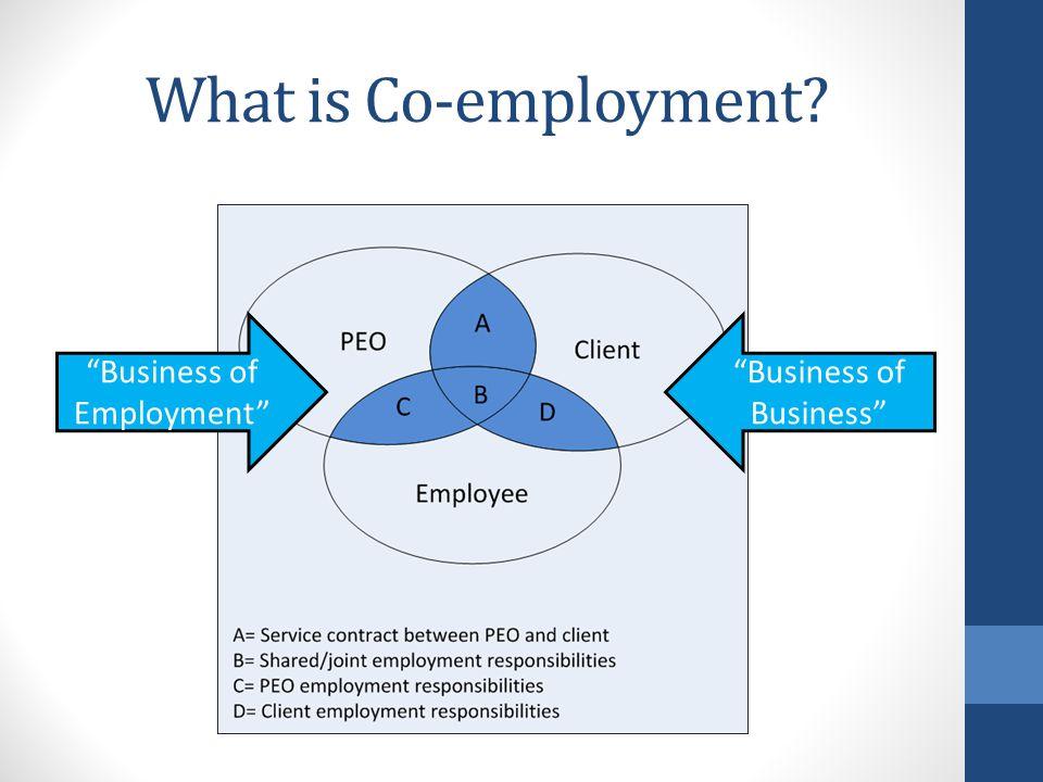 Why Co-employment? Revenue Better Benefits Core Competencies