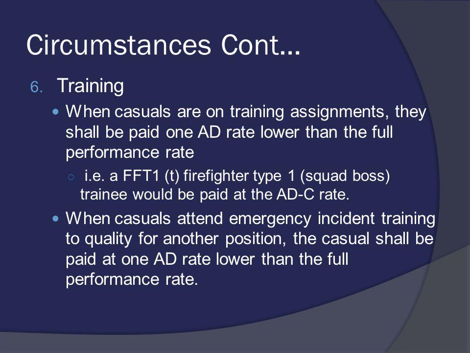 Circumstances Cont… 6.