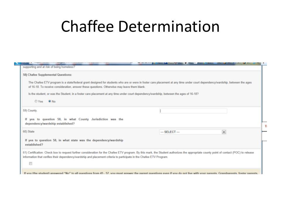 Chaffee Determination