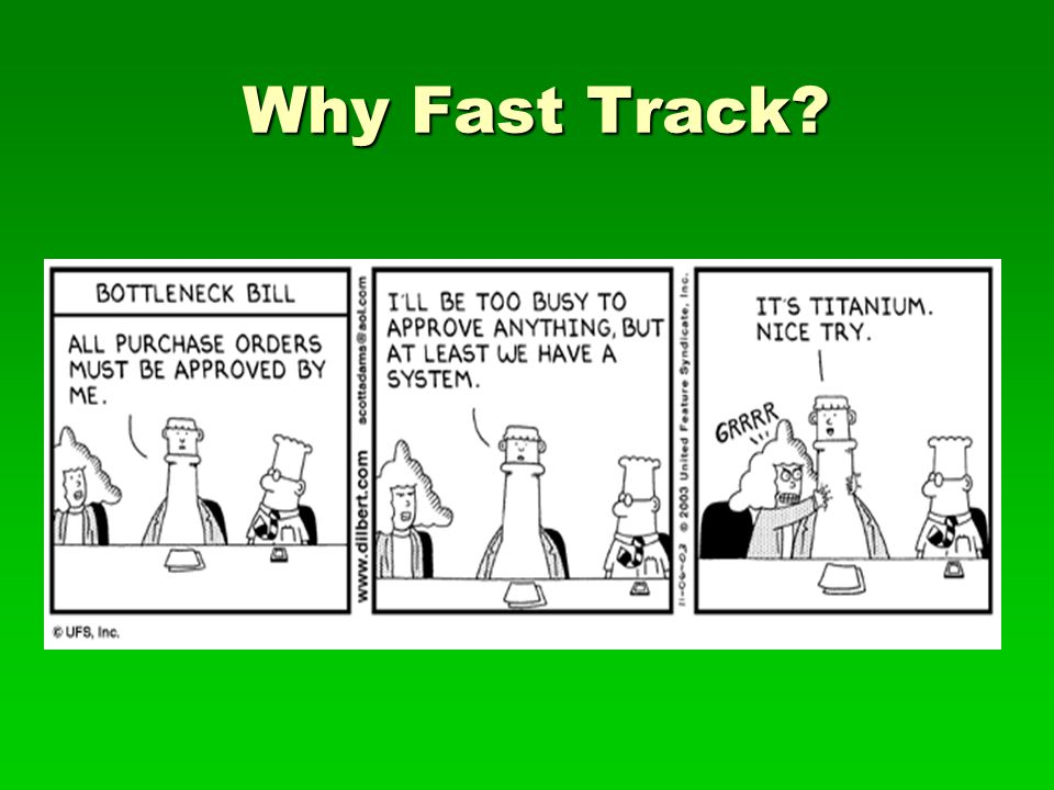 Why Fast Track