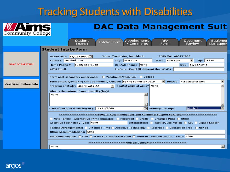 Tracking Students with Disabilities