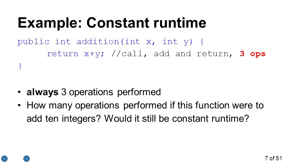18 of 51 Quiz.2/3 What is the Big-O runtime of this algorithm.