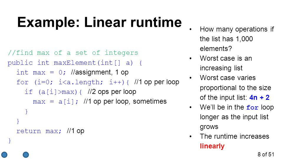 19 of 51 Quiz.3/3 What is the big-O runtime of this algorithm.