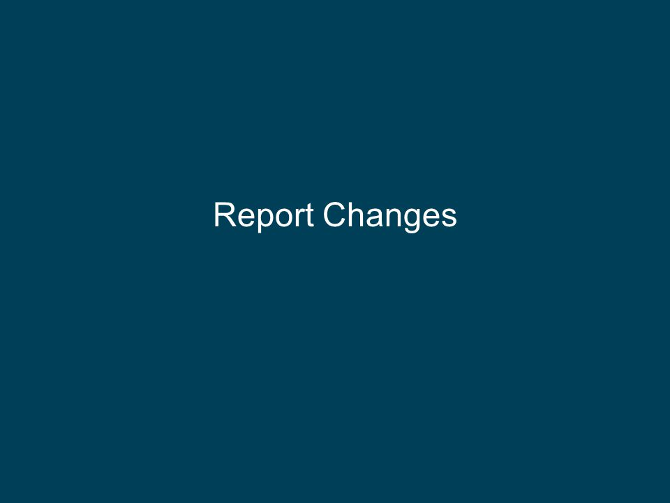 Report Changes