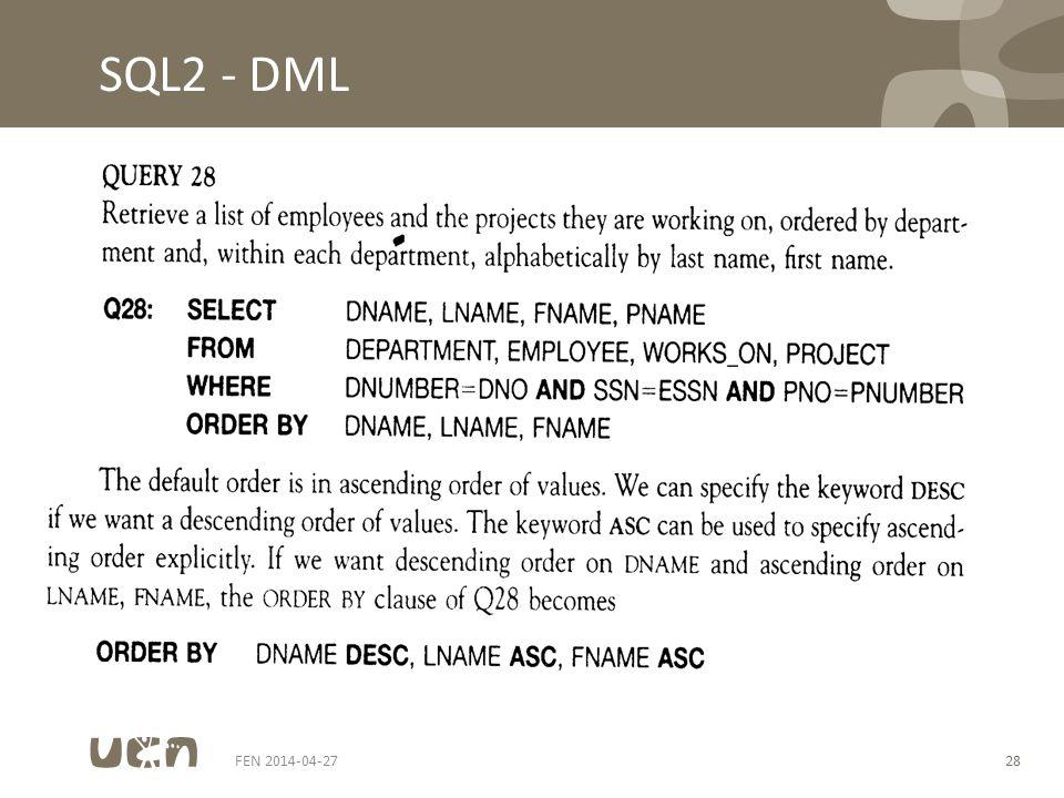 FEN 2014-04-2728 SQL2 - DML
