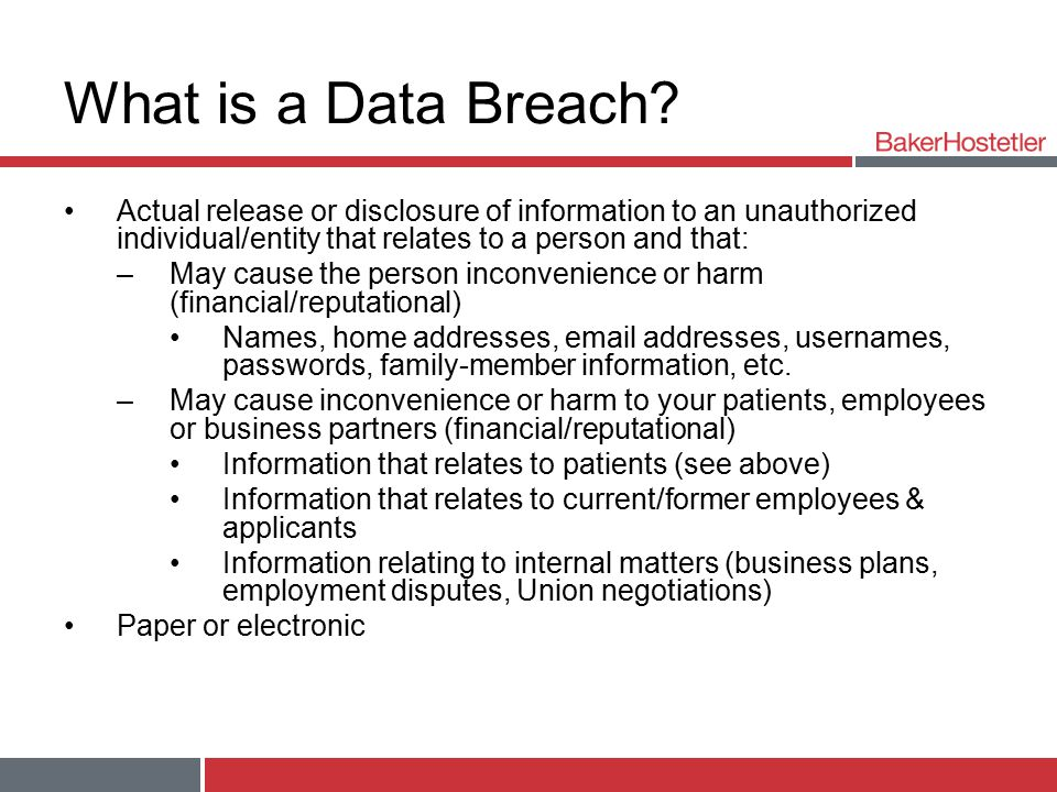 What is a Data Breach.