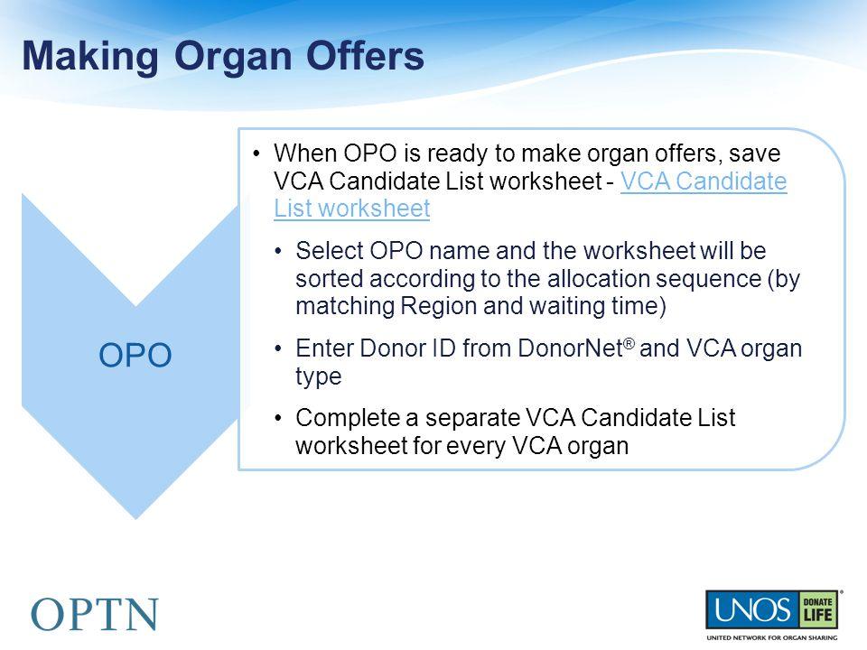 Making Organ Offers