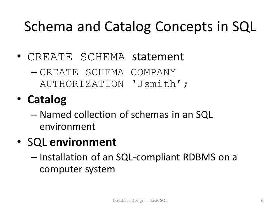 Some Queries Database Design -- Basic SQL27