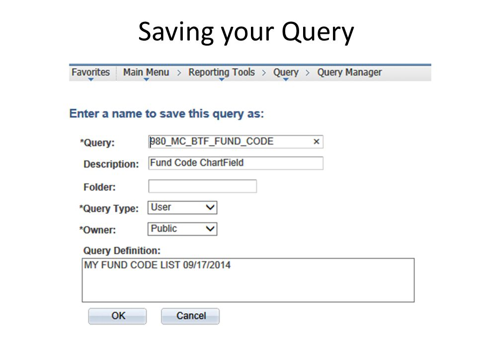 Modify a Query