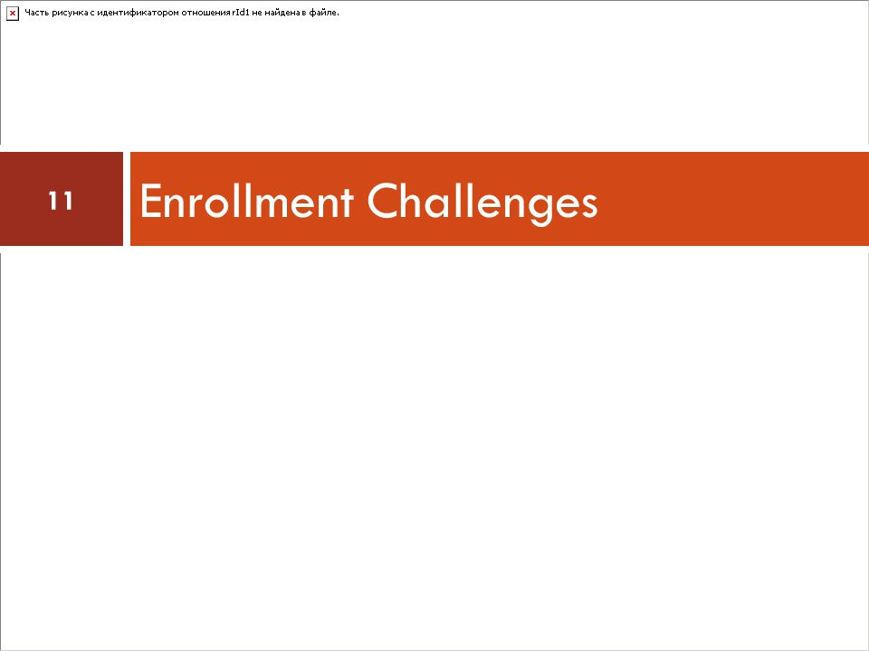Enrollment Challenges 11