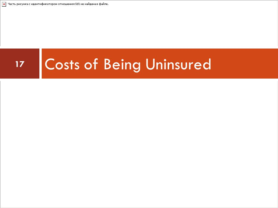 Costs of Being Uninsured 17