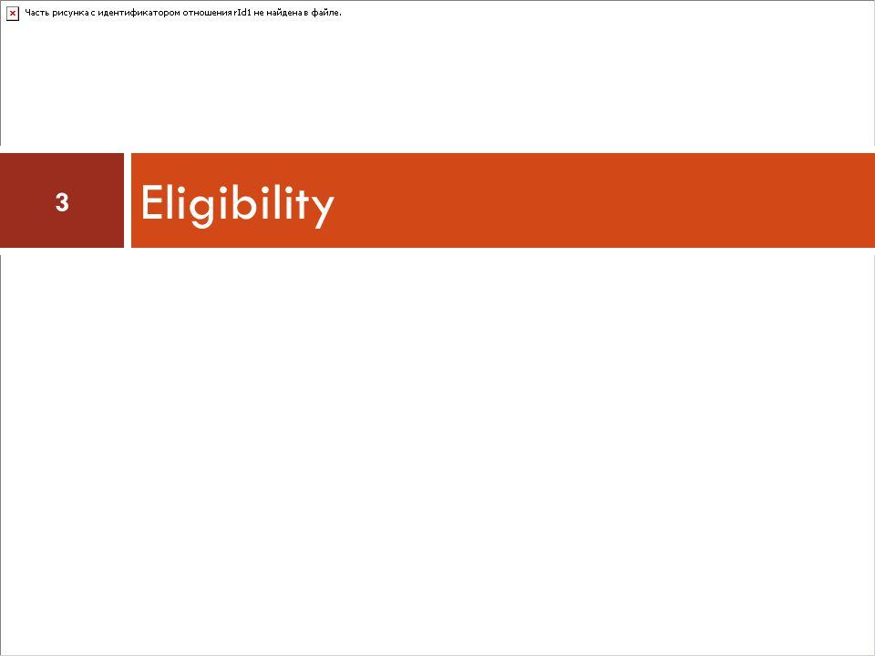 Eligibility 3