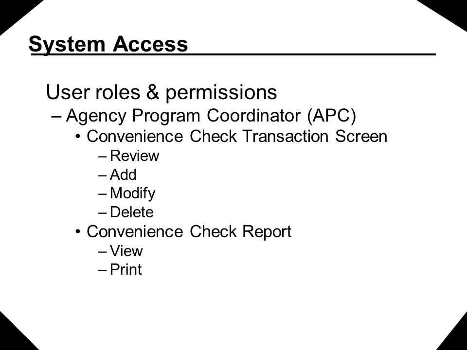 Initial System Access- PKE Screen