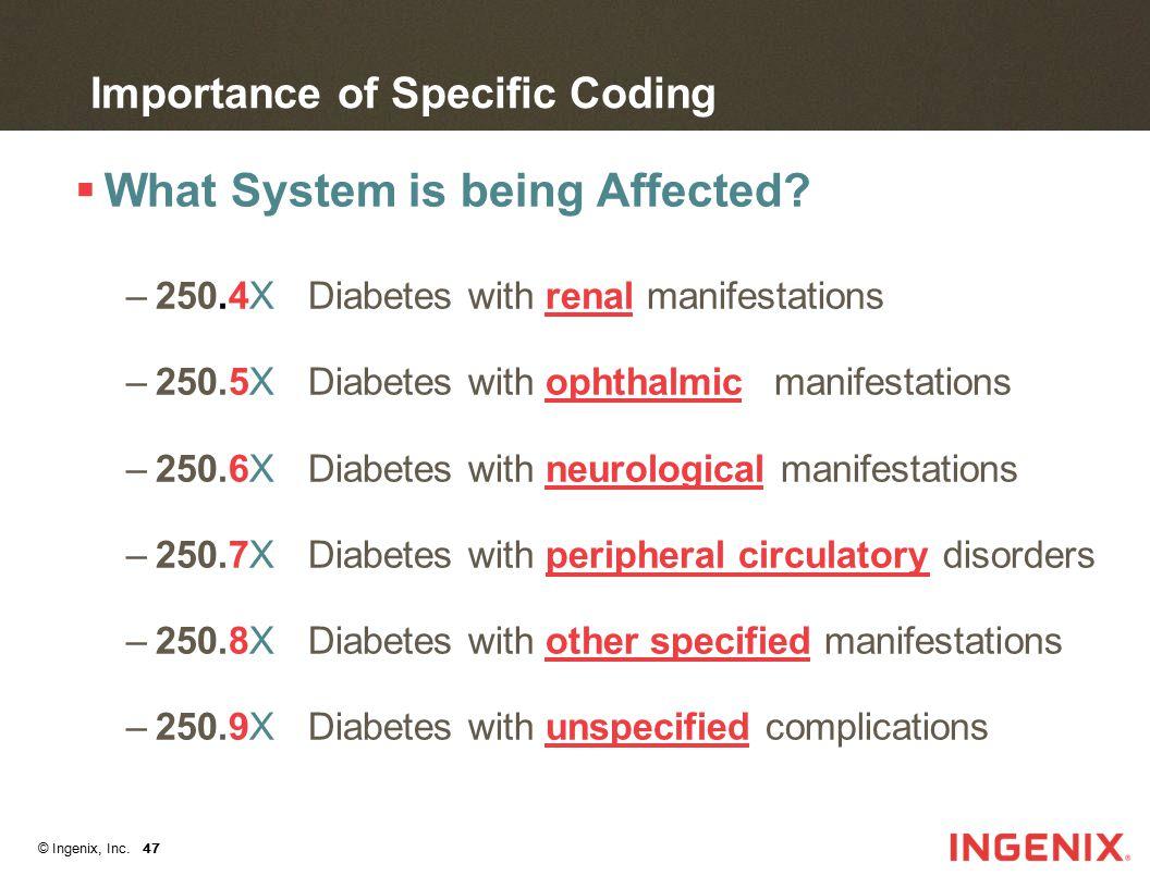 © Ingenix, Inc. 48 Diabetes Coding Tool