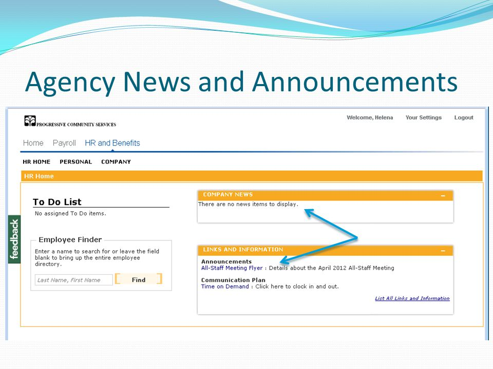 Agency News and Announcements