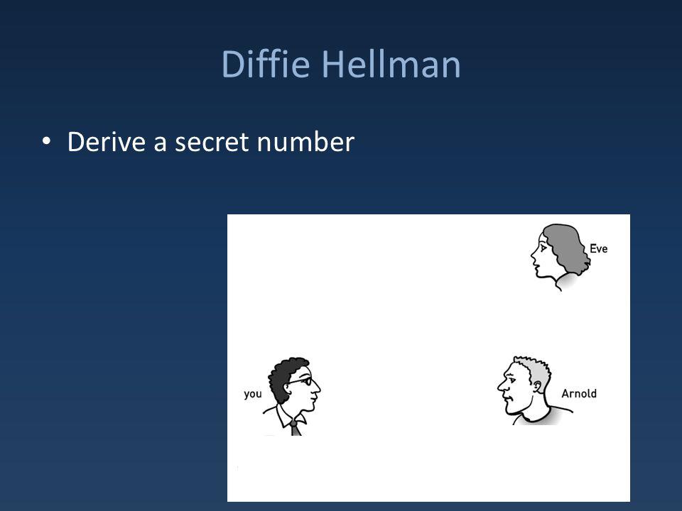 Diffie Hellman Derive a secret number
