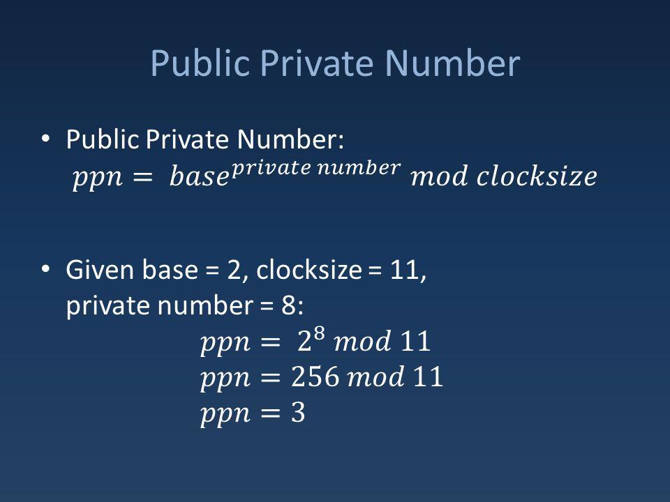 Public Private Number