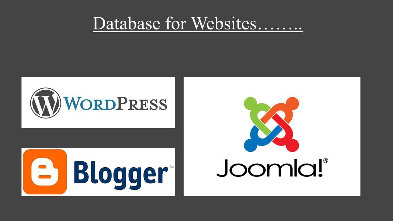 Database for Websites……..