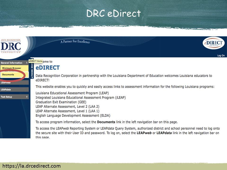 DRC eDirect https://la.drcedirect.com