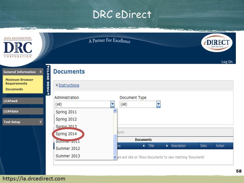 DRC eDirect 58 https://la.drcedirect.com