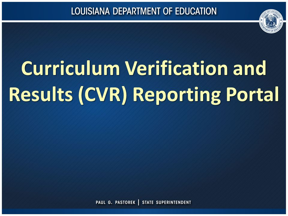 CVR for Principals – Viewing Verified Data Select the 'Verified Data' tab at the top of the screen.