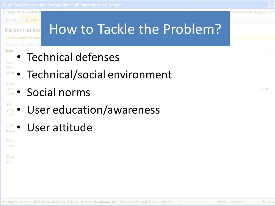 How to Tackle the Problem.