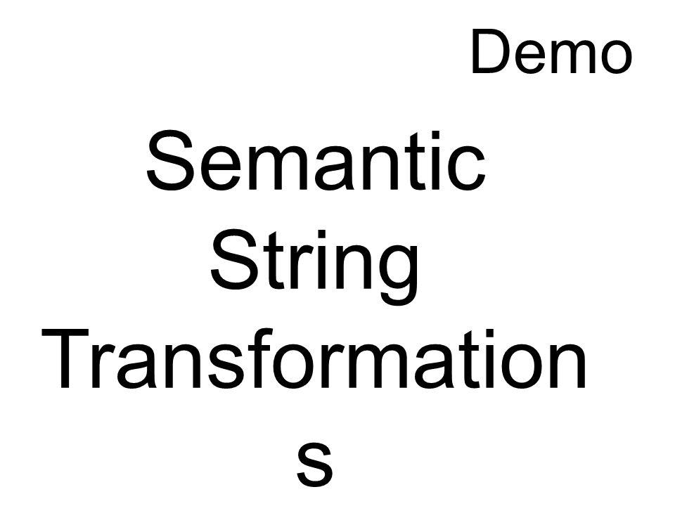 Semantic String Transformation s Demo