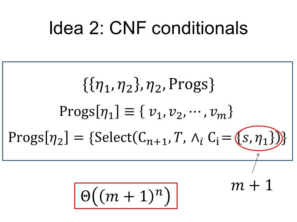 Idea 2: CNF conditionals