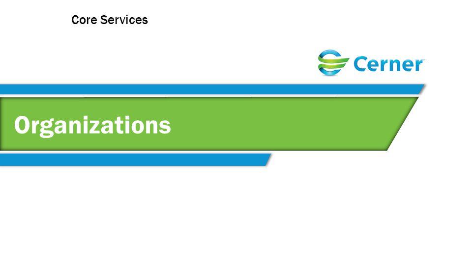 Organizations Core Services