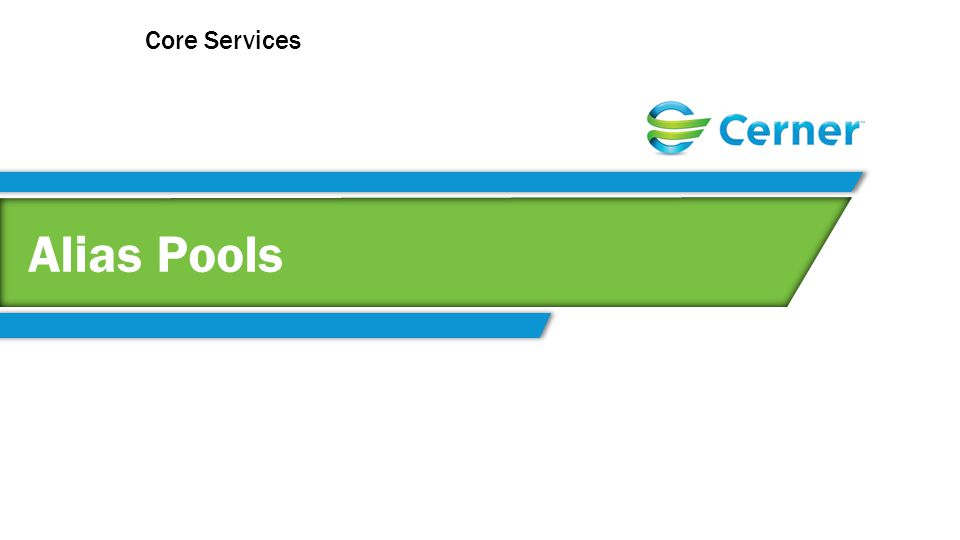 Alias Pools Core Services