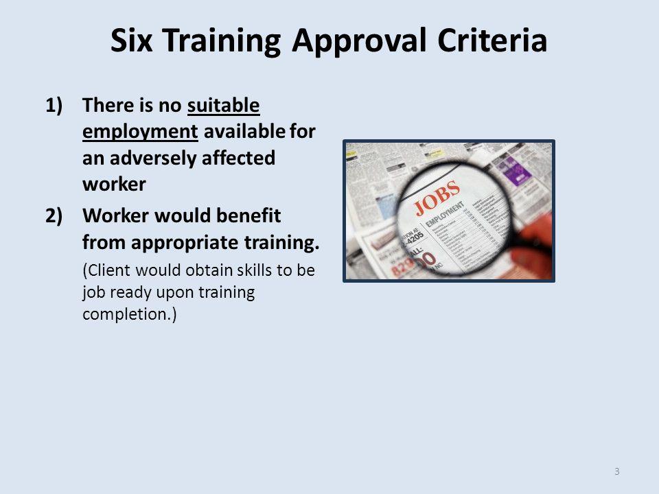 TRA-6 Form  Enter Training Beginning & Ending Dates.