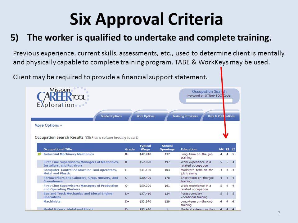 Invoice Criteria  Training facilities must send Trade training-related invoices to Trade rep at designated Career Center.