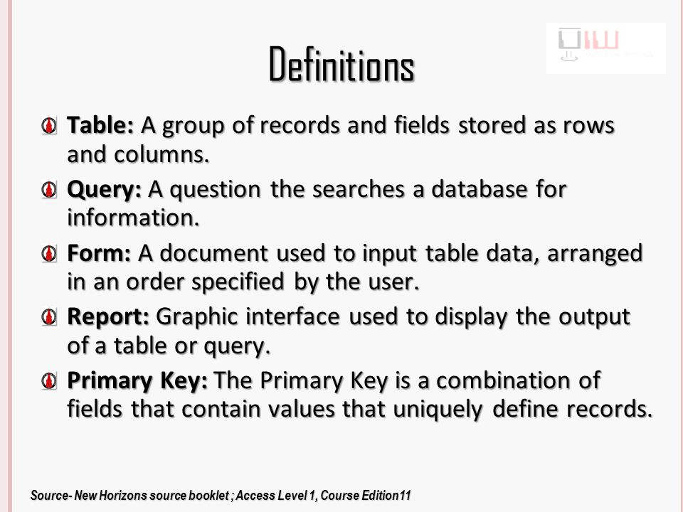 Planning a Database Identify the Purpose of the Database What do you want the database to tell you.