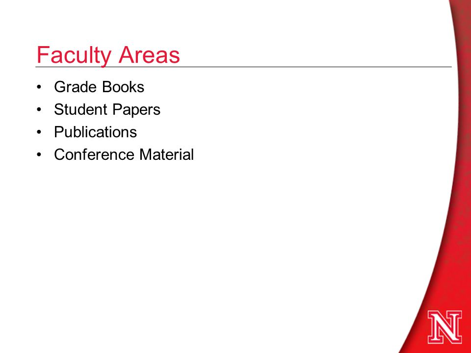 Faculty Areas Grade Books Student Papers Publications Conference Material