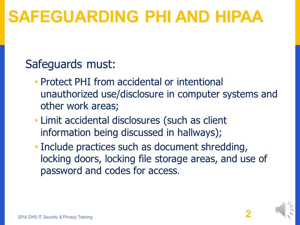 SAFEGUARDING DHS CLIENT DATA PART 2