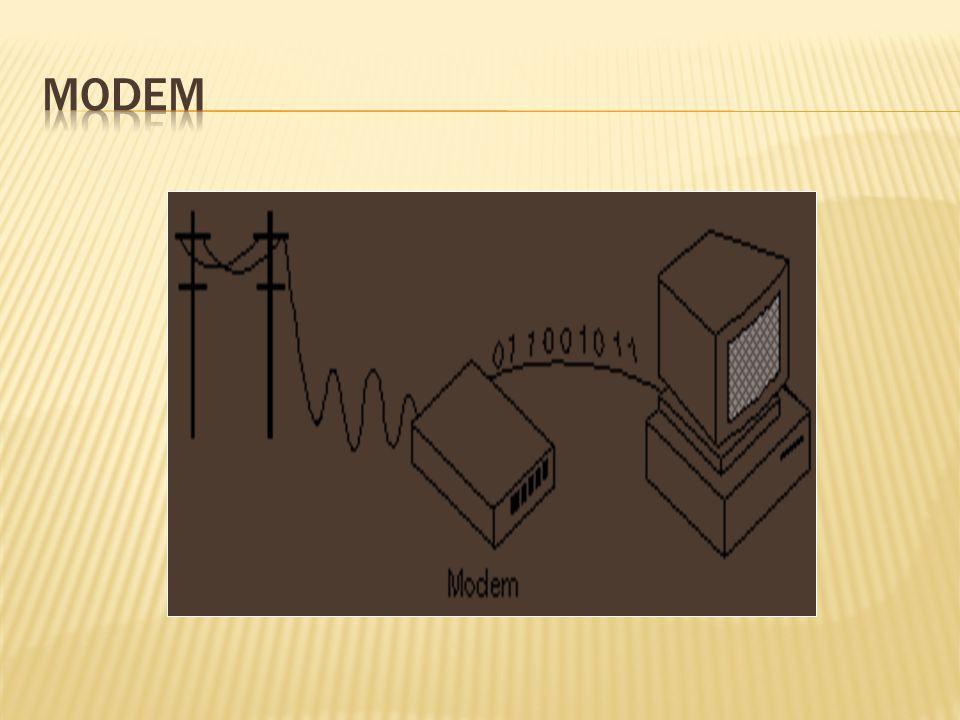  (mō´dem) (n.) Short for modulator-demodulator.
